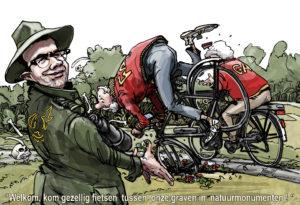2016-cartoon-fietsen-tussen-de-graven