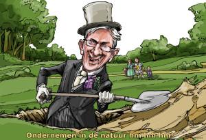 cartoon doodgraver in de natuur versie 3